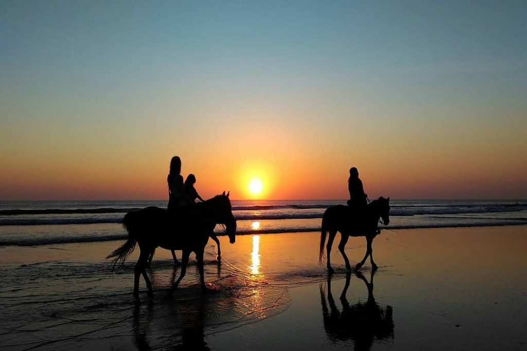 Horse Riding Bali Beach. Sunset Horse Riding Bali.