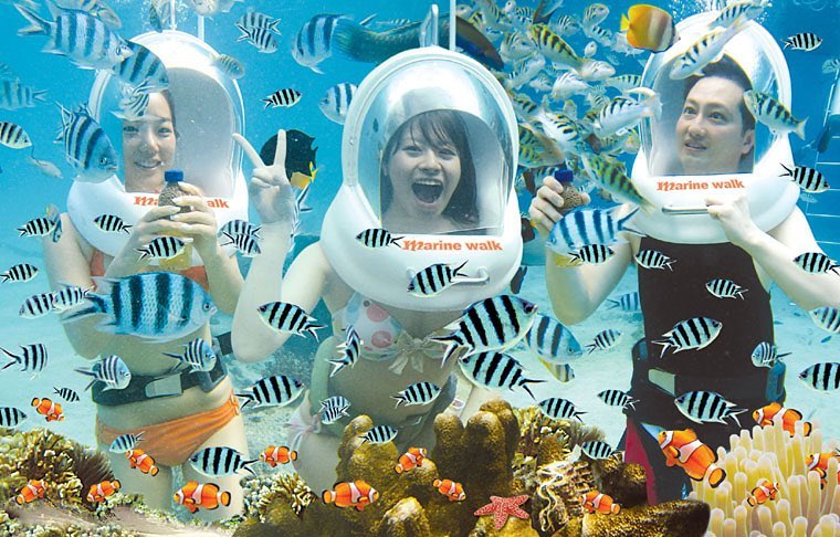 Underwater Sea Walk Bali. Bali Seawalker